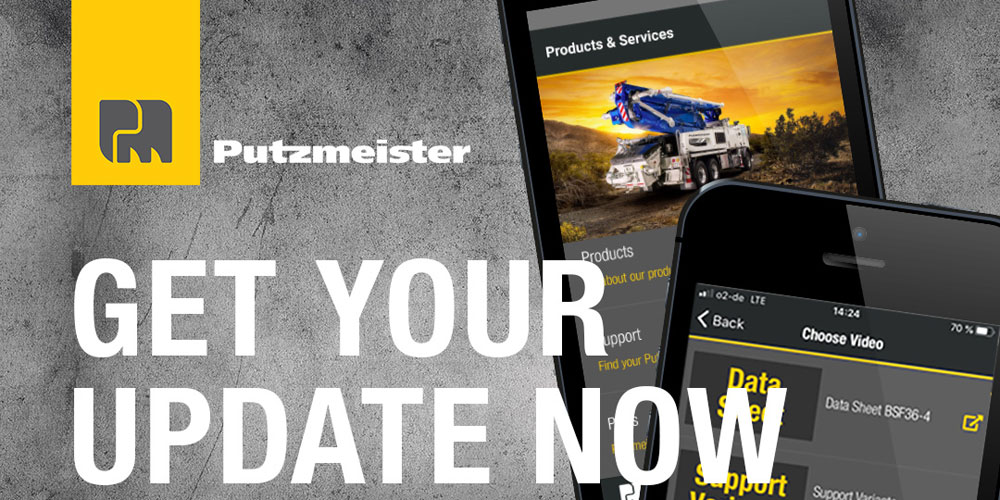 New update for Putzmeister Experts App