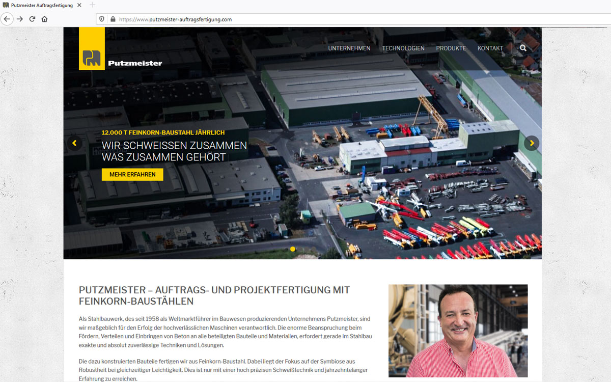 New website for steel manufacturing