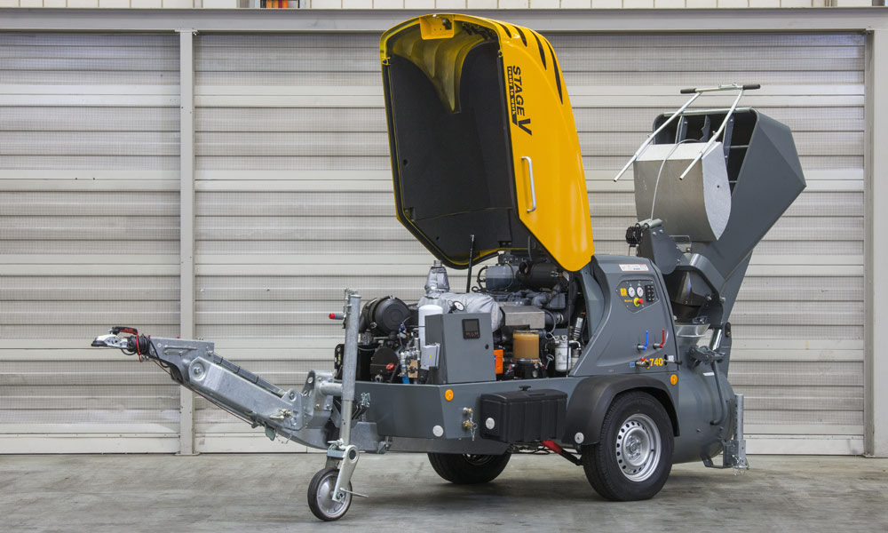 Powerful, efficient, environmentally friendly:  the new Mixokret M 740 Stage V