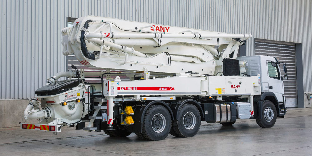 Sany as its secondary brand for mobile concrete pumps